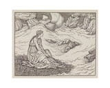 Illustration of woman by the sea Giclee Print by Edward Burne-Jones