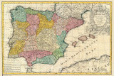 Spain Old Map Photographie