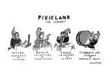 Pixieland-The Cabinet - New Yorker Cartoon Premium Giclee Print by Michael Crawford