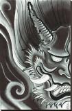Black Hanya Stretched Canvas Print by Samuel Gosson