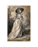 Chalk study of a Lady Giclee Print by Thomas Gainsborough