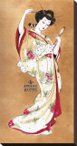 Traditional Geisha Stretched Canvas Print by Susana Alonso