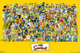 The Simpsons-Characters Print