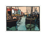 San Francisco Docks, 1915 Giclee Print by William Selzer Rice