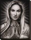 Praying Mary Stretched Canvas Print by  Spider (Artist)