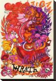 Wrath Stretched Canvas Print by Tegan Coddington