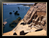 Ramses Temple and the Nile Shoreline at Abu Simbel Framed Photographic Print by David Boyer