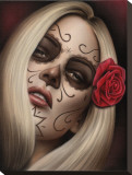 Spiders La Muerta Stretched Canvas Print by  Spider (Artist)