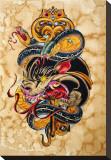 Panther Key Opspændt lærredstryk af Tomas Archuletta
