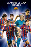FC Barcelona- League Champions Posters