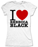 Juniors: Rebecca Black - I Love Rebecca T-shirts