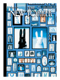 The Bunny Family - The New Yorker Cover, April 5, 2010 Premium Giclee Print by Kathy Osborn