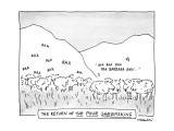 The Return Of The Four Sheepskins - New Yorker Cartoon Premium Giclee Print by James Stevenson