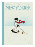 Whiteout - The New Yorker Cover, March 1, 2010 Premium Giclee Print by Brian Stauffer