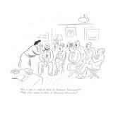 """""""Est-ce que je coupe la barbe de Monsieur Hammond?""""-""""Oui, vous coupez la b…"""" - New Yorker Cartoon Premium Giclee Print by  Alain"""