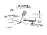 The Vehicapult-A temporary replacement for the Williamsburg Bridge - New Yorker Cartoon Premium Giclee Print by Warren Miller