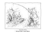 CROSSED PATHS-Géricault Meets Izaak Walton - New Yorker Cartoon Premium Giclee Print by Ronald Searle