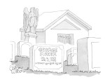 George Fisher Dec. 16, 1939—Apr. 12, 1995 Internet: george@ckg.com.' - New Yorker Cartoon Premium Giclee Print by Gahan Wilson
