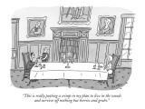 """This is really putting a crimp in my plan to live in the woods  and survi…"" - New Yorker Cartoon Premium Giclee Print by Peter C. Vey"