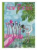 The New Yorker Cover - January 15, 1972 Premium Giclee Print by Charles Saxon