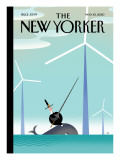 Tilt - The New Yorker Cover, May 10, 2010 Regular Giclee Print by Bob Staake