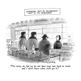 """Gorbachev Adds An Unscheduled Stop To His Itinerary-""""I'm sorry, sir, but w…"""" - New Yorker Cartoon Premium Giclee Print by Mort Gerberg"""