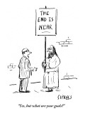 """""""Yes, but what are your goals?"""" - New Yorker Cartoon Premium Giclee Print by David Sipress"""
