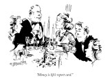 """Money is life's report card."" - New Yorker Cartoon Premium Giclee Print by William Hamilton"