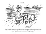 """""""The country grandpa came from was a stinking hellhole of  unspeakable pov…"""" - New Yorker Cartoon Premium Giclee Print by David Sipress"""