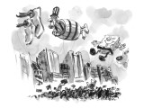 Uncle Sam in a barrel is a float in a parade. - New Yorker Cartoon Premium Giclee Print by Lee Lorenz
