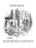 """""""Hi!  I'm Edward Emlyn Parkerson  IV .  I just graduated and started work …"""" - New Yorker Cartoon Premium Giclee Print by Henry Martin"""