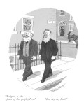"""""""Religion is the opium of the people, Fred.""""-""""Just say no, Karl."""" - New Yorker Cartoon Premium Giclee Print by J.B. Handelsman"""