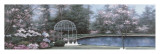 Lakeside Gazebo Panel Prints by Diane Romanello