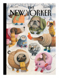 Baby, It's Cold Outside - The New Yorker Cover, February 8, 2010 Regular Giclee Print by Ana Juan