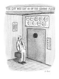 The Guy Who Got in on the Ground Floor - New Yorker Cartoon Premium Giclee Print by Roz Chast