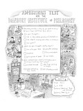 Admissions Test  for the Danbury Institute of Philosophy - New Yorker Cartoon Premium Giclee Print by Roz Chast