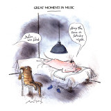 GREAT MOMENTS IN MUSIC-'Delius was blind.' - New Yorker Cartoon Premium Giclee Print by Ronald Searle