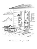"""What is it, Lassie—is Timmy in trouble?"" - New Yorker Cartoon Premium Giclee Print by Tom Cheney"