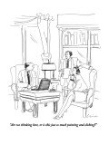 """Are we thinking here, or is this just  so much pointing and clicking?"" - New Yorker Cartoon Premium Giclee Print by Richard Cline"