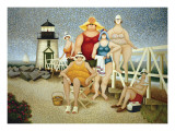 Beach Vacation Poster by Lowell Herrero