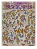 The New Yorker Cover - May 21, 1984 Premium Giclee Print by James Stevenson