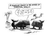 A Significant Moment in the History of Terrestrial Whales-'Let's take a lo… - New Yorker Cartoon Premium Giclee Print by Sidney Harris