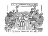 The First Commandment Of Euro-Diplomacy: Thou Shalt Not Parley Without Bot… - New Yorker Cartoon Premium Giclee Print by Michael Crawford