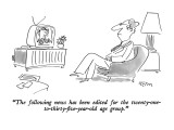 """The following news has been edited for the twenty-one-to-thirty-five- yea…"" - New Yorker Cartoon Premium Giclee Print by Dean Vietor"