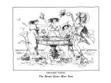 CROSSED PATHS-The Brontë Sisters Meet Paris - New Yorker Cartoon Premium Giclee Print by Ronald Searle