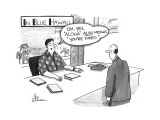 """IN BLUE HAWAII-""""Oh, yes, 'Aloha' also means 'you're fired.'"""" - New Yorker Cartoon Premium Giclee Print by Leo Cullum"""