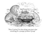 """Since I retired, I've been doing some part-time  consulting for a younger…"" - New Yorker Cartoon Premium Giclee Print by Edward Koren"