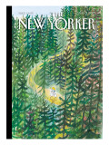 The Joys and Torments of Solitude - The New Yorker Cover, August 2, 2010 Regular Giclee Print by Jean-Jacques Sempé