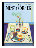 The New Yorker Cover - November 21, 2011 Premium Giclee Print by Wayne Thiebaud