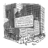 Bill Gates' Wealth-Your Family's Contribution-The Bill Gates Wealth Clock'… - New Yorker Cartoon Premium Giclee Print by Jon Agee